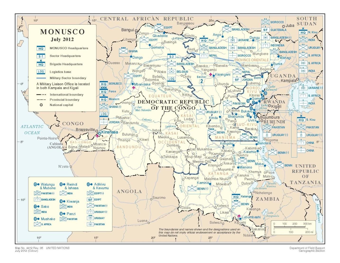 Democratic Republic of Congo Involvement of MONUSCO  How does